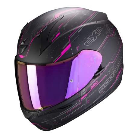 CASCO SCORPION EXO-390 BEAT NEGRO MATE ROSA