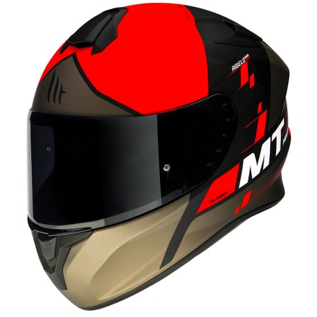 CASCO MT FF106 TARGO RIGEL A5 ROJO MATE