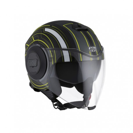 CASCO AGV FLUID CHICAGO NEGRO AMARILLO FLUOR