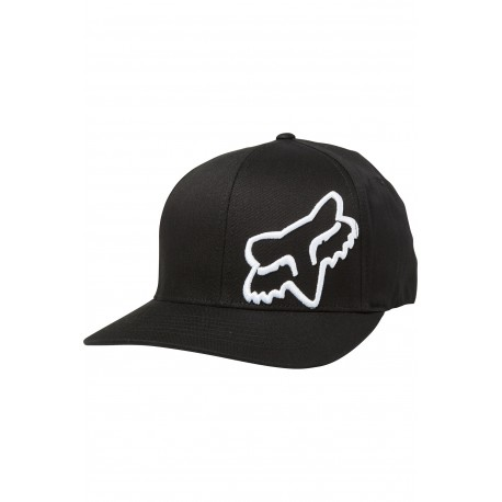 GORRA FOX FLEX 45 NEGRO BLANCO