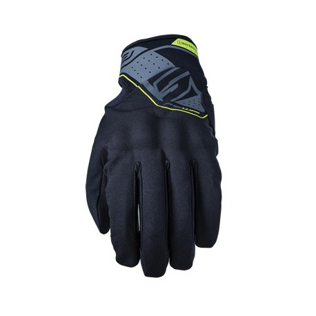 GUANTES FIVE5 RS WATERPROOF NEGRO AMARILLO