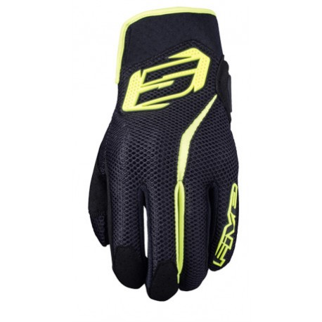 GUANTES FIVE5 RS5 AIR NEGRO AMARILLO