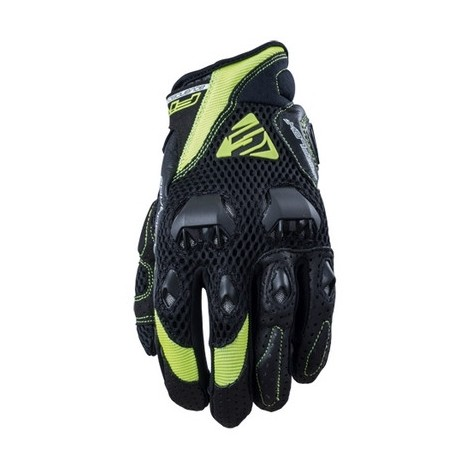 GUANTES FIVE5 STUNT EVO AIR NEGRO AMARILLO