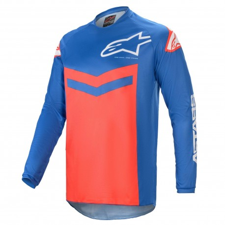 JERSEY ALPINESTARS FLUID SPEED AZUL ROJO