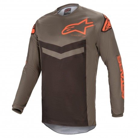 JERSEY ALPINESTARS FLUID SPEED GRIS NARANJA
