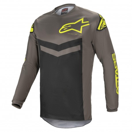JERSEY ALPINESTARS FLUID SPEED GRIS AMARILLO FLUOR