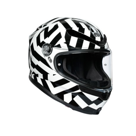 CASCO AGV K6 SECRET NEGRO BLANCO