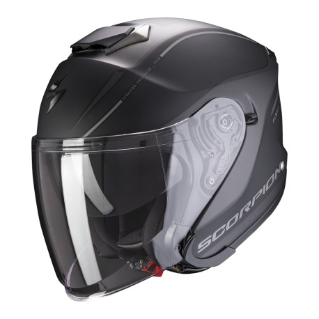 CASCO SCORPION EXO-S1 SHADOW NEGRO MATE PLATA