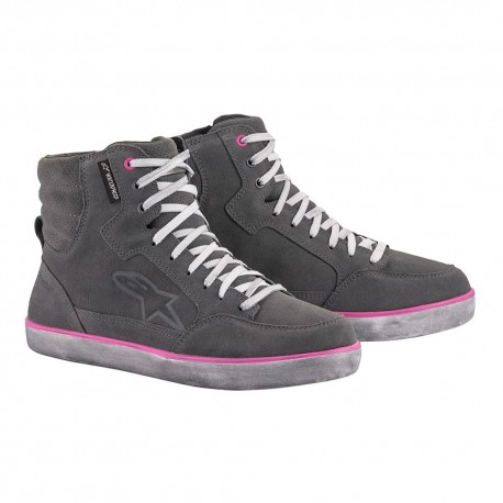 ZAPATILLAS ALPINESTARS J-6 WATERPROOF LADY GRIS ROSA