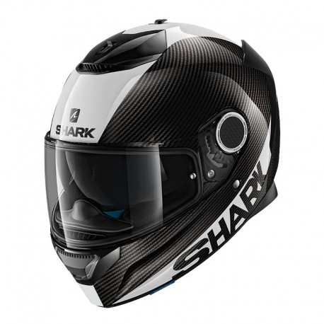 CASCO SHARK SPARTAN CARBON NEGRO BLANCO