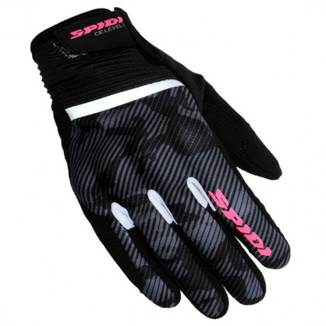 GUANTES SPIDI FLASH CE LADY NEGRO CAMUFLAJE