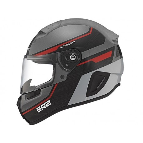 CASCO SCHUBERTH SR2 LIGHTNING ROJO