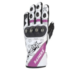 GUANTES RAINERS BELEN BLANCO ROSA