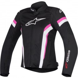 CHAQUETA ALPINESTARS T-GP PLUS R V2 AIR STELLA NEGRO BLANCO