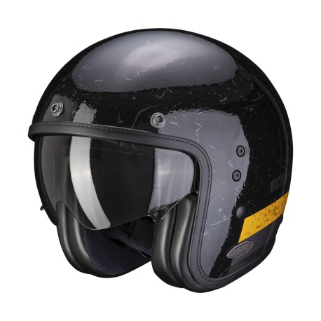 CASCO SCORPION BELFAST SHIFT NEGRO ORO