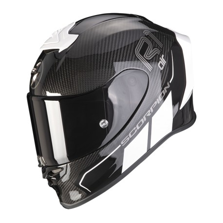 CASCO SCORPION EXO-R1 CARBON AIR CORPUS II NEGRO BLANCO