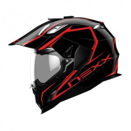 Casco Nexx Xd1 Voyager Negro Rojo Motos Garrido