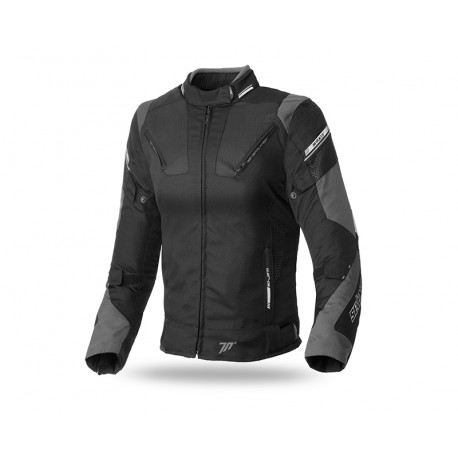 CHAQUETA SEVENTY DEGREES SD-JR71 RACING LADY NEGRO GRIS