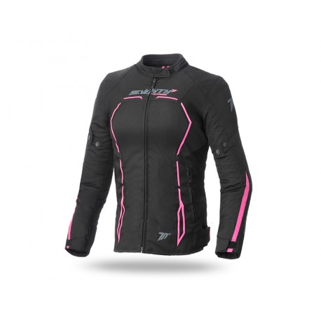 CHAQUETA SEVENTY DEGREES SD-JR67 RACING LADY NEGRO ROSA