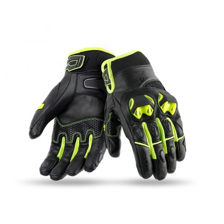 GUANTES SEVENTY DEGREES SD-N47 NAKED NEGRO AMARILLO FLUOR