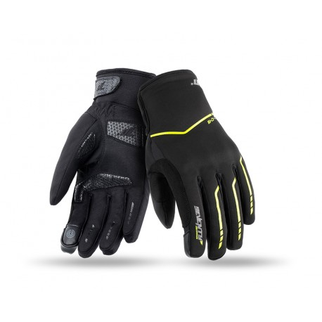 GUANTES SEVENTY DEGREES SD-C49 URBAN NEGRO AMARILLO FLUOR