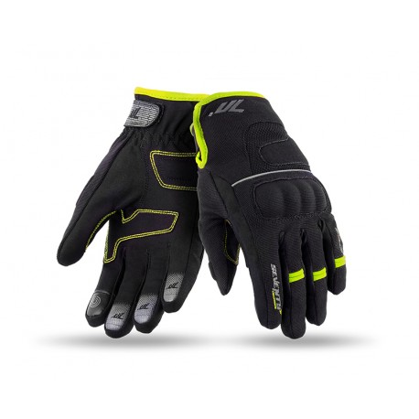 GUANTES SEVENTY DEGREES SD-C45 URBAN LADY NEGRO AMARILLO FLUOR