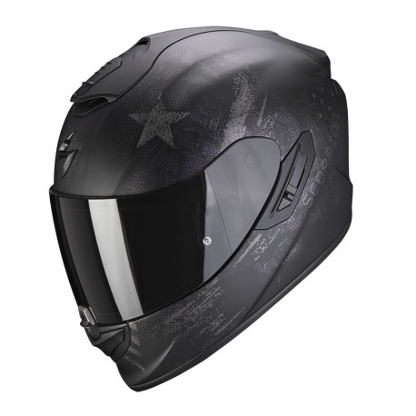 CASCO SCORPION EXO-1400 AIR ASIO NEGRO MATE PLATA