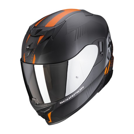 CASCO SCORPION EXO-520 AIR LATEN NEGRO MATE NARANJA