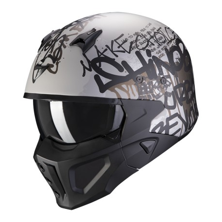 CASCO SCORPION COVERT-X WALL PLATA NEGRO MATE