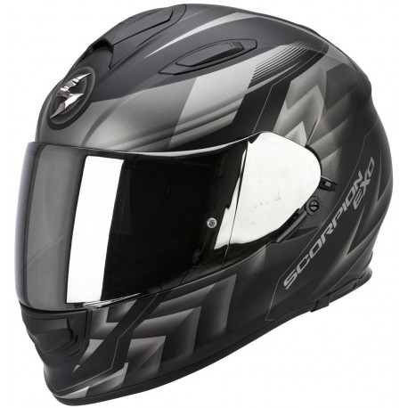 CASCO SCORPION EXO 510 SCALE NEGRO MATE PLATA