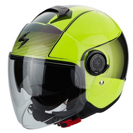 CASCO SCORPION EXO CITY AMARILLO NEGRO