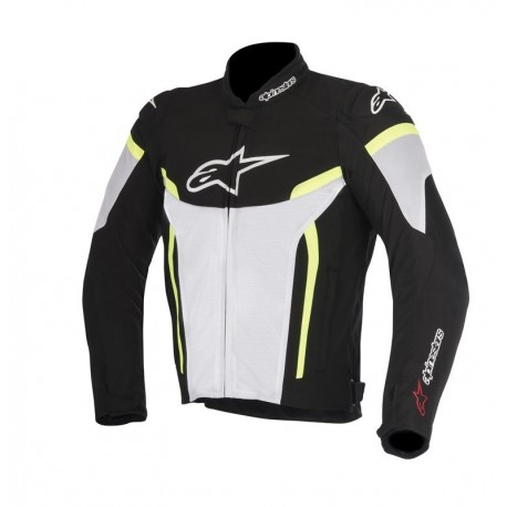 CHAQUETA ALPINESTARS GP PLUS R V2 AIR BLANCO NEGRO AMARILLO FLUOR