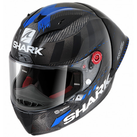CASCO SHARK RACE-R PRO GP LORENZO WINTER TEST 99 DAB CARBONO ANTRACITA AZUL