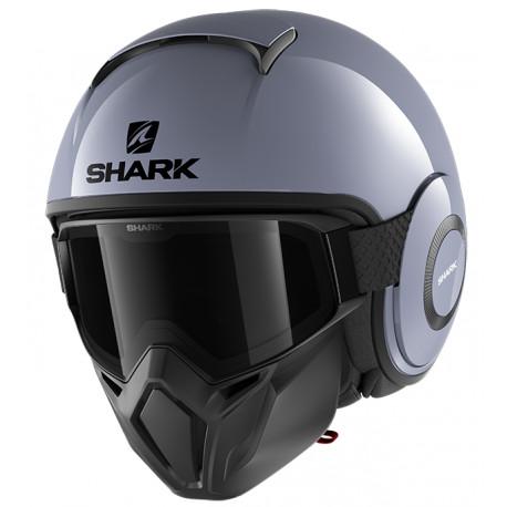 CASCO SHARK STREET DRAK BLANK S01 GRIS GRAFITO