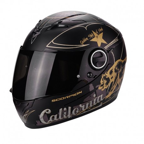 CASCO SCORPION EXO 490 GOLDEN STATE NEGRO ORO