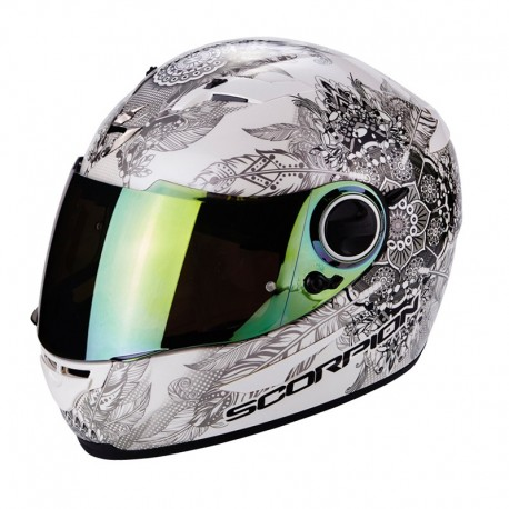 CASCO SCORPION EXO 490 DREAM BLANCO CAMALEÓN
