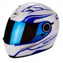 CASCO SCORPION EXO 490 LUZ BLANCO AZUL