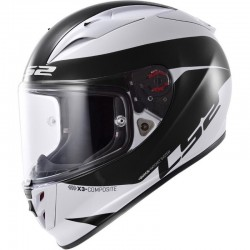 CASCO LS2 ARROW R COMET BLANCO NEGRO