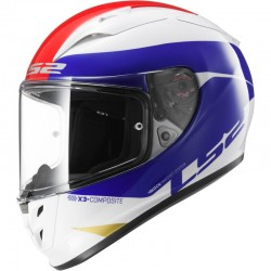 CASCO LS2 ARROW R COMET BLANCO AZUL ROJO