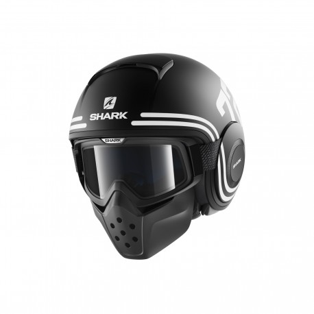 CASCO SHARK DRAK 72 NEGRO MATE