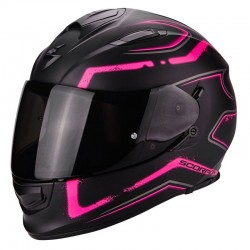 CASCO SCORPION EXO 510 RADIUM NEGRO MATE ROSA
