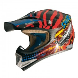 CASCO SHIRO MX-306 ROCKID ROJO