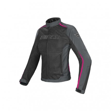 CHAQUETA DAINESE HYDRA FLUX LADY NEGRO GRIS ROSA