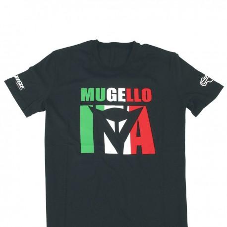CAMISETA DAINESE MUGELLO D1 NEGRO