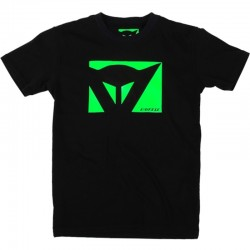 CAMISETA DAINESE COLOR NEW NEGRO VERDE FLUOR
