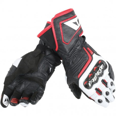 GUANTE DAINESE CARBON D1 LONG NEGRO BLANCO ROJO