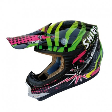 CASCO SHIRO MX-306 ROCKID VERDE