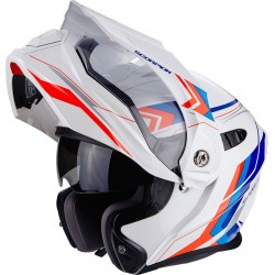 CASCO SCORPION ADX1 ANIMA BLANCO ROJO AZUL