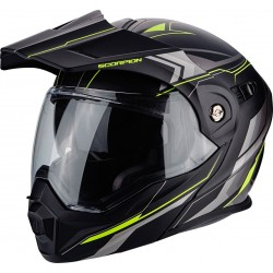 CASCO SCORPION ADX1 ANIMA NEGRO MATE AMARILLO FLUOR