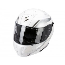 CASCO SCORPION EXO 920 GEM BLANCO PLATA